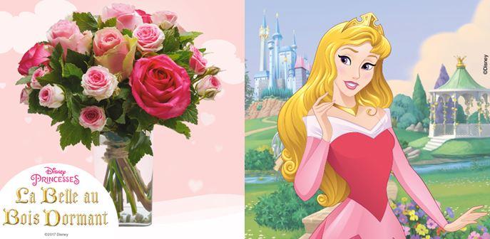Disney princesse - Interflora - bouquet Aurore