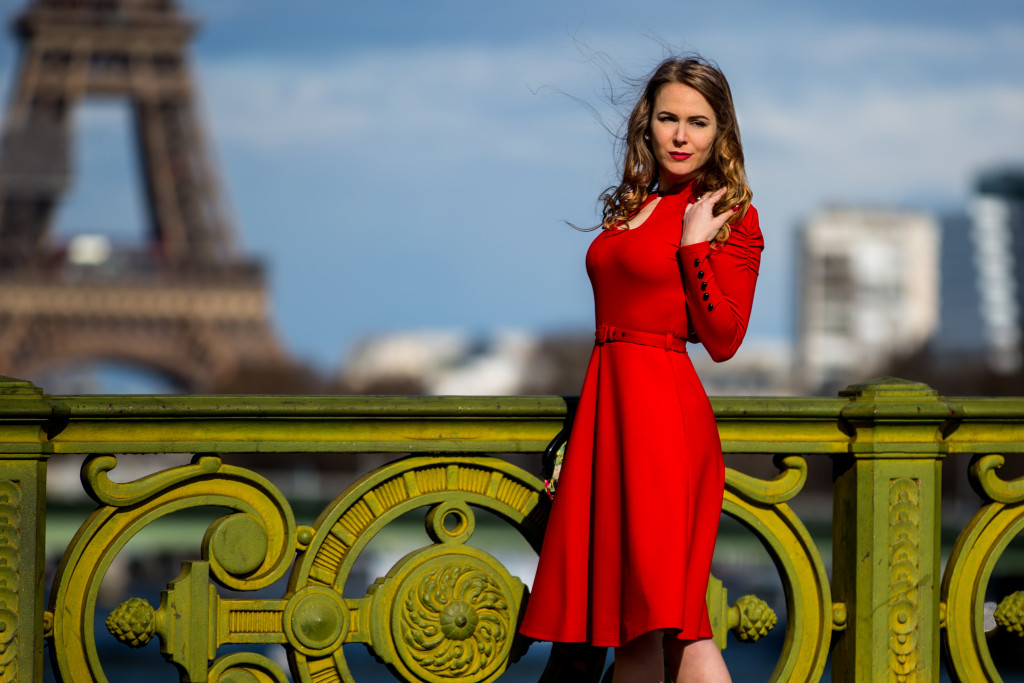 TopVintage - une robe année 50 flamboyante - un look de pin-up
