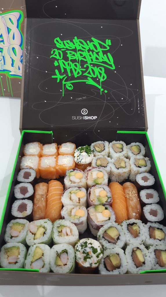 Sushi Shop - box en édition limitée pour les 20 ans de l'enseigne - street art
