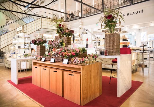 Aoyama Flower Market x La Bouche Rouge au Bon Marché Rive Gauche