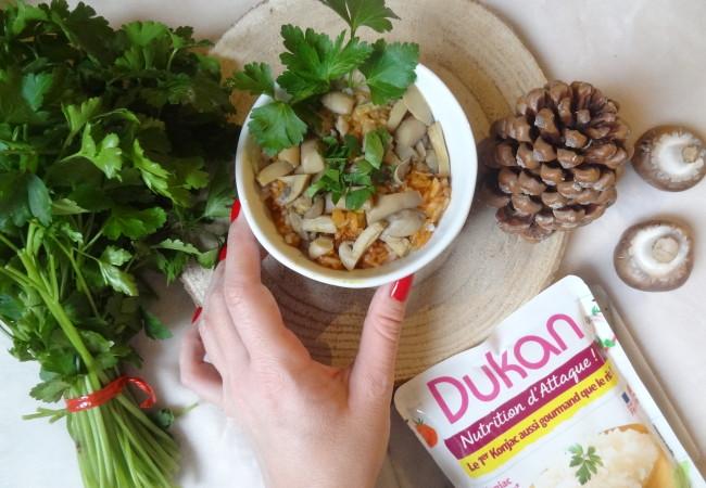 Risotto healthy avec les perles de konjac Dukan