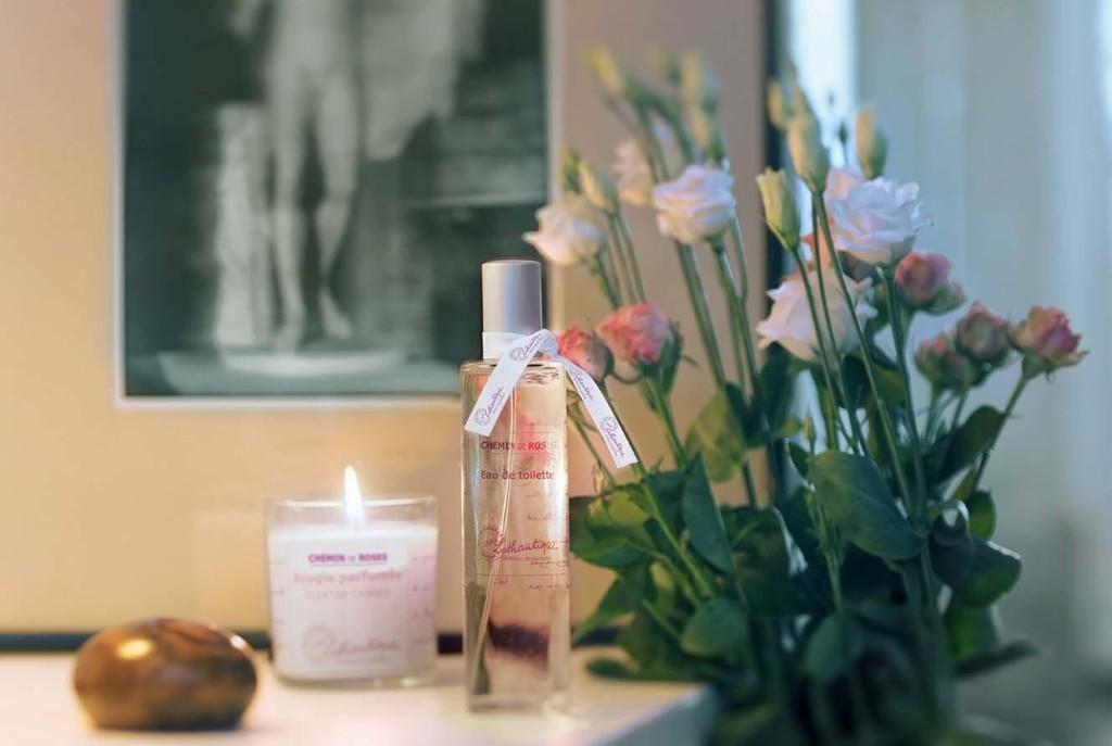 La collection Chemin de Roses de Lothantique - parfums d'intérieur