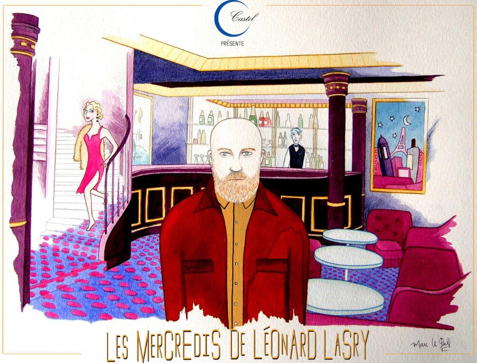 Les mercredis de Léonard Lasry chez Castel