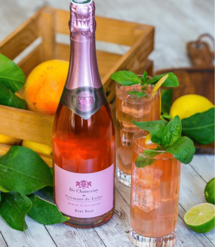 De Chanceny - Crémant de Loire rosé brut - cocktail gourmand