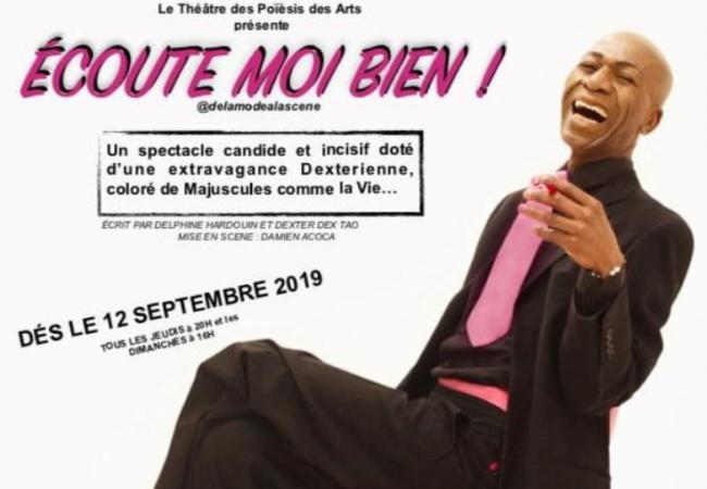 «Ecoute moi bien !», le one man show de Dexter Dex Tao au théâtre