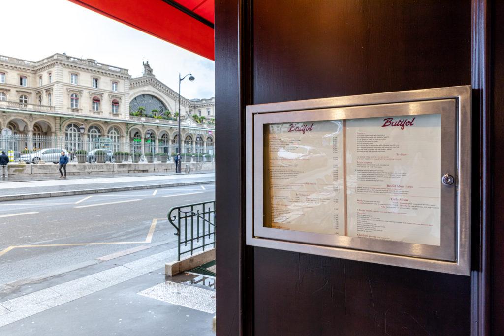Batifol – bistrot  parisien d'inspiration Belle Époque à Gare de l'Est