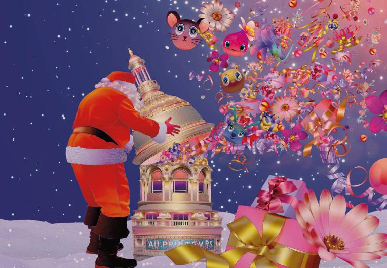 Noël au Printemps Haussmann – vitrines et animations