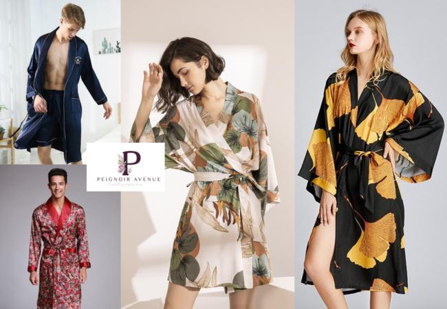 Peignoir Avenue – kimonos exotiques et peignoirs en satin glamour pour l'été