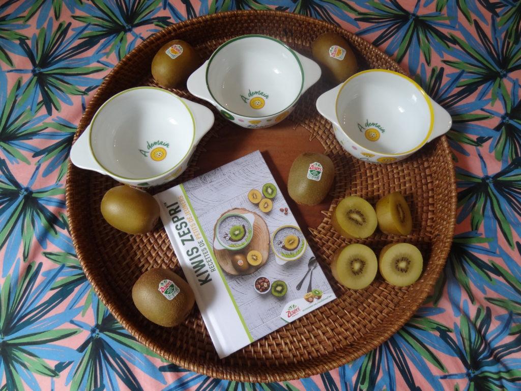 Les kiwis Zespri et leur collaboration avec l'artiste parisienne Oelwein - petits déjeuners vitaminés