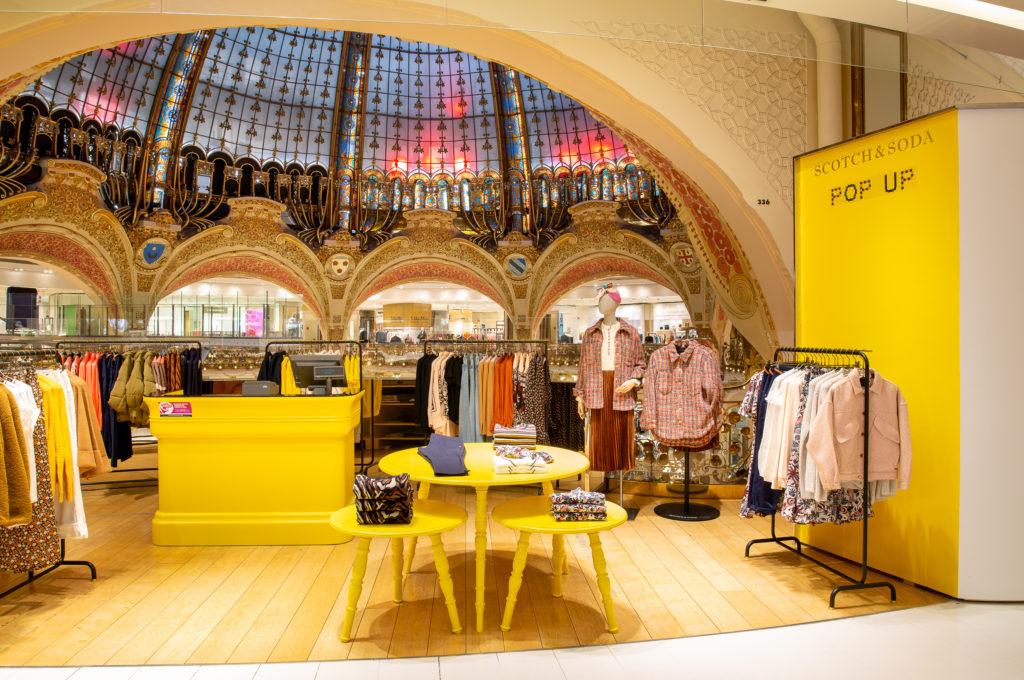 Scotch & Soda ouvre une boutique éphémère pour femmes aux Galeries Lafayette Haussmann