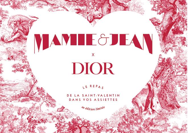 Saint Valentin - un dîner signé Jean Imbert pour Maison Dior