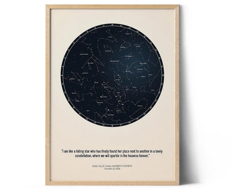 Positive Prints – offrez une carte du ciel personnalisée