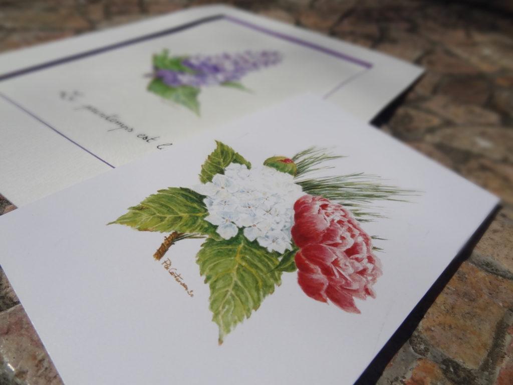 Dessine-moi une fleur - des illustrations de fleurs sur mesure à offrir